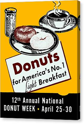 1939 Donut Poster Canvas Print by Historic Image