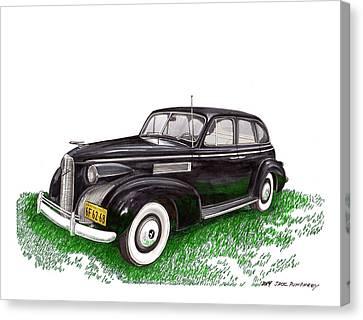 1939 Lasalle 5019 Sedan Canvas Print by Jack Pumphrey