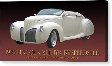 1939 Lincoln Zephyr Poster Canvas Print