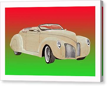 1939 Lincoln Zephyr Speedster Canvas Print by Jack Pumphrey