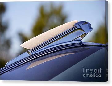 1939 Pontiac Sedan Hood Ornament Canvas Print by Catherine Sherman