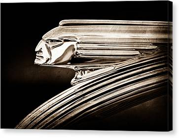 1939 Pontiac Silver Streak Chief Hood Ornament Canvas Print by Jill Reger