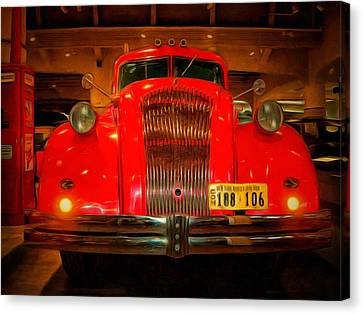 1939 World's Fair Fire Engine Canvas Print by MJ Olsen