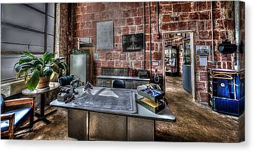 1940 Air Terminal Office Canvas Print by David Morefield