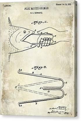 1940 Boning Fish Patent Drawing  Canvas Print by Jon Neidert