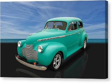 1940 Chevrolet Special Deluxe 2 Door Sedan Canvas Print
