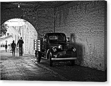 Alcatraz Canvas Print - 1940 Chevrolet Pickup Truck In Alcatraz Prison by RicardMN Photography