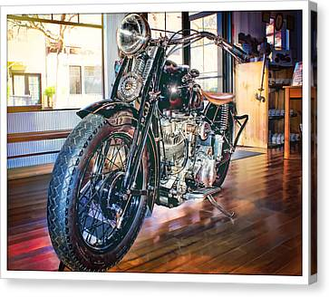 Canvas Print featuring the photograph 1940 Crocker Big Tank by Steve Benefiel