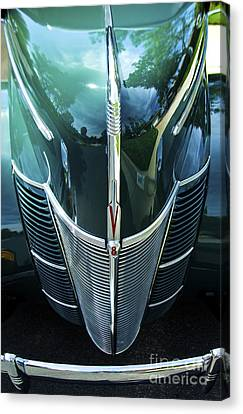 Canvas Print featuring the photograph 1940 Ford Classic Deluxe Two Door Sedan V-8 by Jerry Cowart