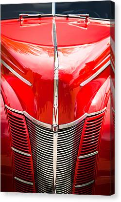 1940 Ford Deluxe Coupe Grille Canvas Print by Jill Reger