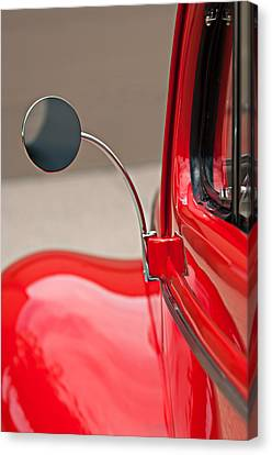 Rear View Canvas Print - 1940 Ford Deluxe Coupe Rear View Mirror by Jill Reger