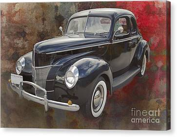 1940 Ford Deluxe Photograph Of Classic Car Painting In Color 319 Canvas Print