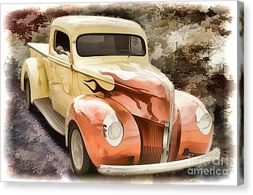 1940 Ford Pickup Truck Painting Car Or Automobile In Color  3133 Canvas Print