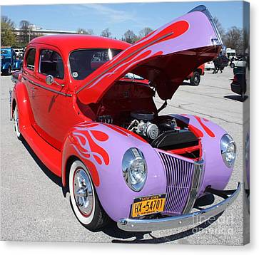 1940 Ford Two Door Sedan Hot Rod Canvas Print
