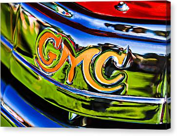 1940 Gmc Pickup Truck Emblem Canvas Print by Jill Reger