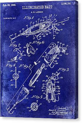 1940 Illuminated Bait Patent Drawing Canvas Print