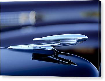 1940 La Salle Hood Ornament Canvas Print by Jill Reger