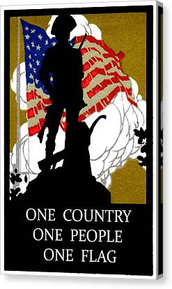 1940 One Country Canvas Print by Historic Image