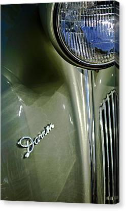 1940 Packard Super Eight One-eighty Darrin Convertible Sedan Headlight Emblem Canvas Print by Jill Reger