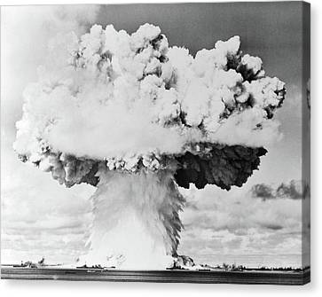 Atomic Bomb Canvas Print - 1940s 1950s Atomic Bomb Blast Mushroom by Vintage Images