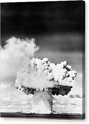 Atomic Bomb Canvas Print - 1940s 1950s Atomic Bomb Explosion by Vintage Images