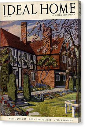 1940s Uk Ideal Home Magazine Cover Canvas Print