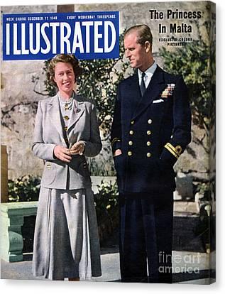 1940s Uk Illustrated Magazine Cover Canvas Print