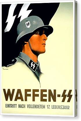 1941 - German Waffen Ss Recruitment Poster - Nazi - Color Canvas Print