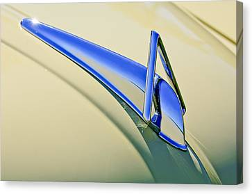 1949 Hudson Super Six  Hood Ornament Canvas Print by Jill Reger