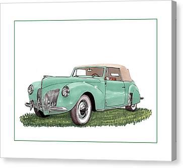1941 Lincoln V-12 Continental Canvas Print