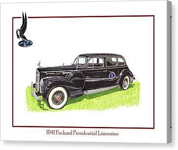 1941 Packard 180 Presidential Limousine Canvas Print by Jack Pumphrey