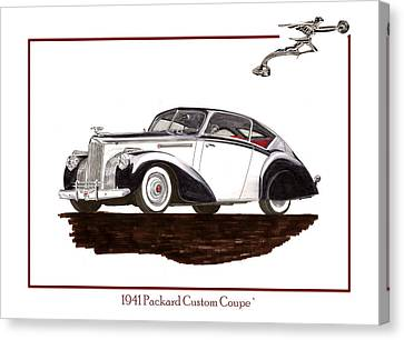 1941 Packard Custom Coupe 120 Canvas Print by Jack Pumphrey