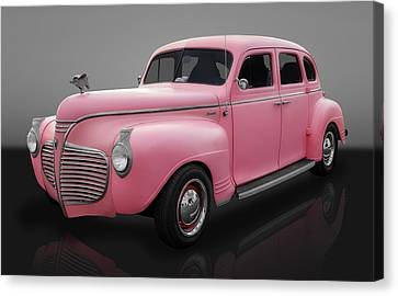 1941 Plymouth 4 Door Sedan Canvas Print by Frank J Benz