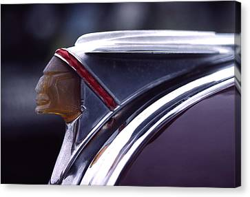 1941 Pontiac Hood Ornament Canvas Print by Carol Leigh