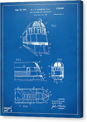 1941 Zephyr Train Patent Blueprint Canvas Print by Nikki Marie Smith