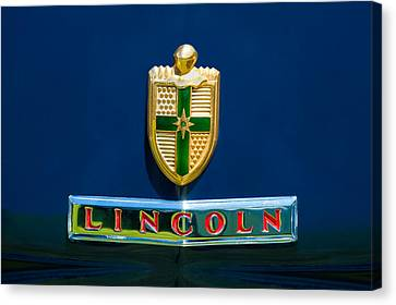 1942 Lincoln Continental Cabriolet Emblem Canvas Print by Jill Reger