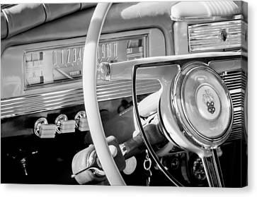 1942 Packard Darrin Convertible Victoria Steering Wheel Emblem Canvas Print by Jill Reger