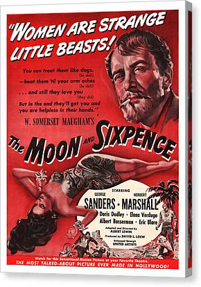 1942 The Moon And Sixpence Canvas Print by Presented By American Classic Art