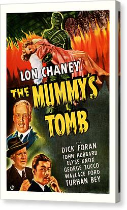 1942 The Mummys Tomb Vintage Movie Art Canvas Print by Presented By American Classic Art