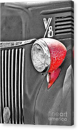 1944 Ford Pickup - Headlight - Sc Canvas Print by Mary Carol Story