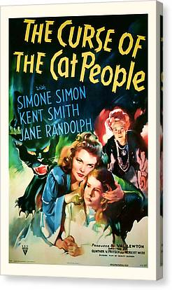 1944 The Curse Of The Cat People Vitage Movie Art Canvas Print by Presented By American Classic Art