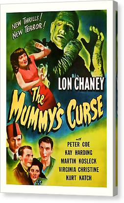 1944 The Mummys Curse Vintage Movie Art Canvas Print by Presented By American Classic Art