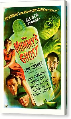 1944 The Mummys Ghost Vintage Movie Art Canvas Print by Presented By American Classic Art