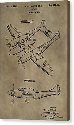 1946 Airplane Patent Canvas Print by Dan Sproul