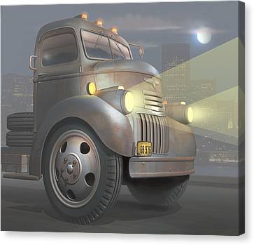 1946 Chevy Coe Canvas Print by Stuart Swartz