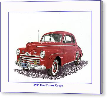 1946 Ford Special Deluxe Coupe Canvas Print by Jack Pumphrey