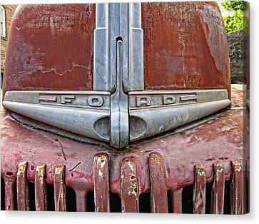 American Truck Canvas Print - 1946 Ford Truck Grill And Face Plate by Daniel Hagerman