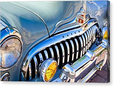 1947 Buick Eight Super Grille Emblem Canvas Print by Jill Reger