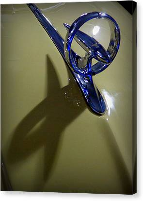Antique Automobiles Canvas Print - 1947 Buick Hood Ornament by Joseph Skompski