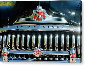 1947 Buick Sedanette Grille Canvas Print by Jill Reger